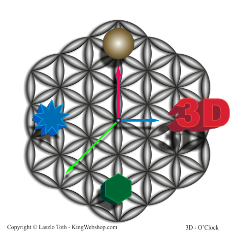 3D O' Clock – 03, Vector Design