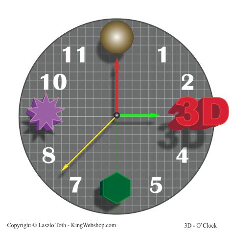 3D O' Clock – 01, Vector Design