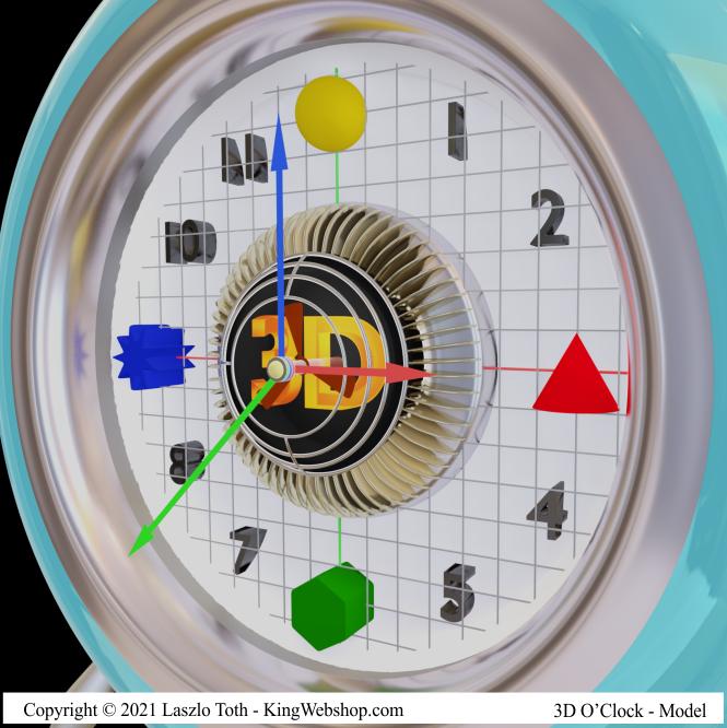 3D O' Clock, A02 – ( 3D Model )