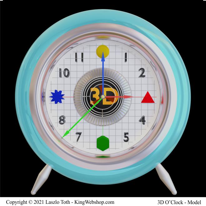 3D O' Clock, A01 – ( 3D Model )