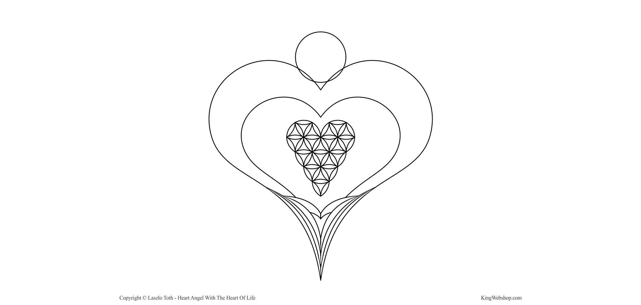 Heart Angel – With The Heart Of Life – KingWebshop – Header image logo
